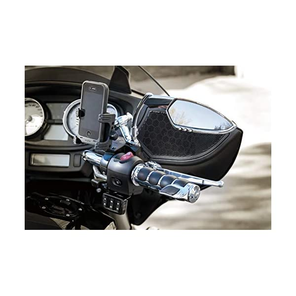 1 Pair 1982-2019 Harley-Davidson Motorcycles Chrome Kuryakyn 6212 Premium ISO Handlebar Grips with Standard Throttle Boss for Dual Cable Throttle Control