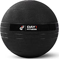 Day 1 Fitness Weighted Slam Ball - 9 Weight, 3 Color and Bundle Options - No Bounce Medicine Ball - Gym Equipment Accessories, High Intensity Exercise, Functional Strength Training, Cardio,