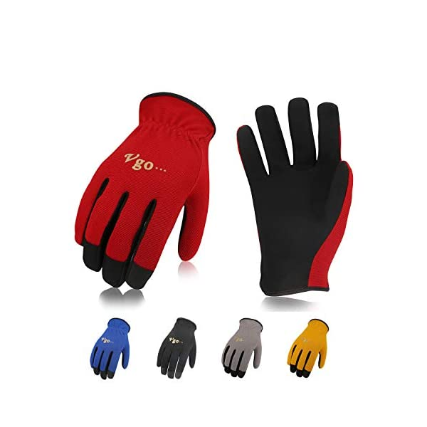 Multifunction Size S, Fluorescent Yellow, PU2103 Vgo 15 Pairs Glove PU Coated Gardening and Work Gloves for Men /…