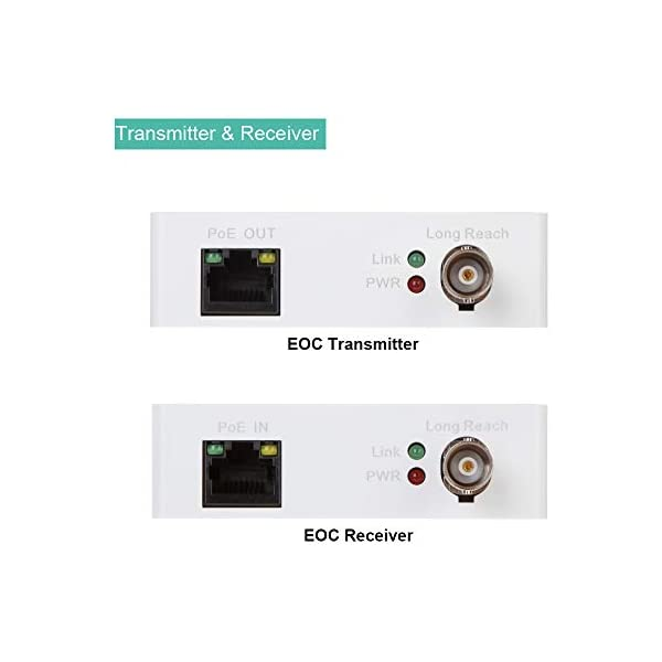 BV-Tech Converter IP Over Coax max 3000ft POE Power and Data Transmission