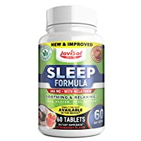 Premium Natural Sleep Aid | Easy to Take Dissolvable Strawberry-Flavor | Natural Insomnia Relief-Wake Up Refreshed Non-Groggy Melatonin-5 HTP-GABA | Magnesium-Zinc Plus Vitamin B6 | 60 Day Supply.