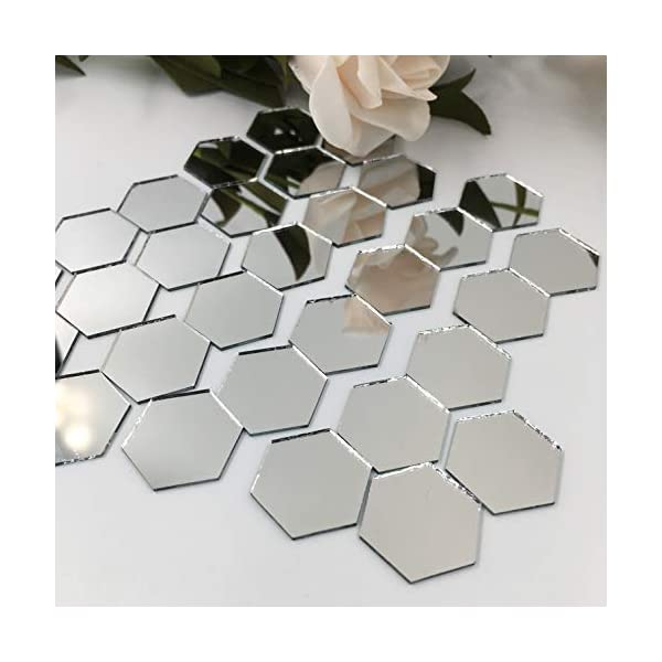 Craft Mirror DIY Craft Projects 2-Inch Diameter 60-Pack Mini Mirror Circles Glass Mosaic Tile Pieces for Home Decor