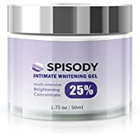 SPISODY Whitening Gel For Face, Body, Sensitive & Intimate Areas - for Dark Spots, Sun Spots, Age Spots - Good for Underarm and Private Areas - Arbutin, Niacinamide - 50ML/1.7OZ