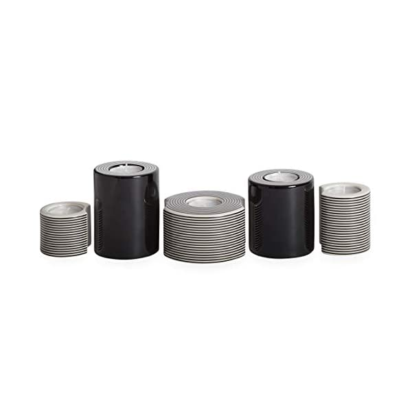 Black and White Now House by Jonathan Adler Mod Lines Modular Candleholder