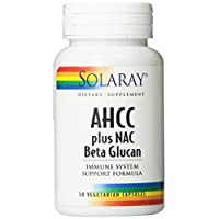 Solaray AHCC Plus Nac and Beta Glucan Supplement, 30 Count