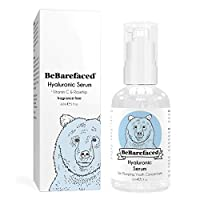 Hyaluronic Acid Serum for Face With Vitamin C & Retinol 1% - Anti Ageing Skin Plumping Wrinkle Cream With Marine Collagen For All Skin Types by BeBarefaced