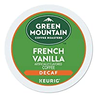 Green Mountain Coffee Roasters French Vanilla Decaf, Single-Serve Keurig K-Cup Pods, Flavored Light Roast Coffee, 24 Count