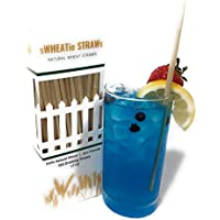 100% Natural Wheat Hay Straws - Tall 100 Natural Eco Friendly Biodegradable Drinking Straws - Disposable, Safer, Healthier Than Reusable Bamboo Straws Reusable, Paper, Plastic Straws
