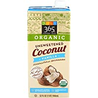 365 Everyday Value, Organic Coconut Milk, Vanilla Flavor, Unsweetened, 32 fl oz