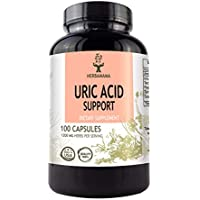 Uric Acid Support 100 Capsules 1200 mg | Herbal Cleanse Detox | Antioxidant Dietary Supplement | Joint Support | Kidney Support | Filled With Tart Cherry Extract, Turmeric, Milk Thistle,Celery Extract
