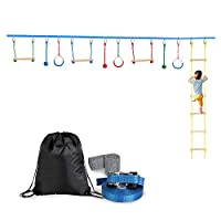 YISHENG Outdoor Tree Hanging Obstacles Polyester Line Accessories Play Set Kit Blue