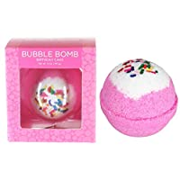 Birthday Cake Bubble Bath Bomb by Two Sisters Spa. Large 99% Natural Fizzy for Women, Teens and Kids. Moisturizes Dry Sensitive Skin. Releases Color, Scent, and Bubbles. Handmade in USA