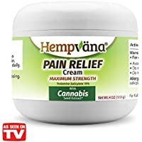 As Seen On TV Hempvana Pain Relief Cream with Cannabis Seed Extract - Relieves Inflammation, Muscle, Joint, Back, Knee, Nerves and Arthritis Pain – Made in USA 4oz Paraben Free, Vegan, Cruelty-Free