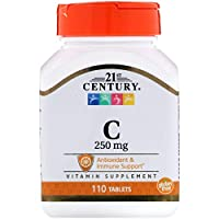 21st Century C 250 mg Tablets, 110-Count (Pack of 2)