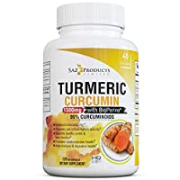 Turmeric Curcumin with Bioperine Black Pepper Extract – High Potency Supplement with 95% Standardized Curcuminoids - 120 Vegan Capsules, Non-GMO