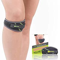 SENTEQ Knee Strap Support Brace, Medical Grade and FDA Approved, Adjustable Patella Knee Support to Prevent Pain and Tendinitis (SQ1 L008)