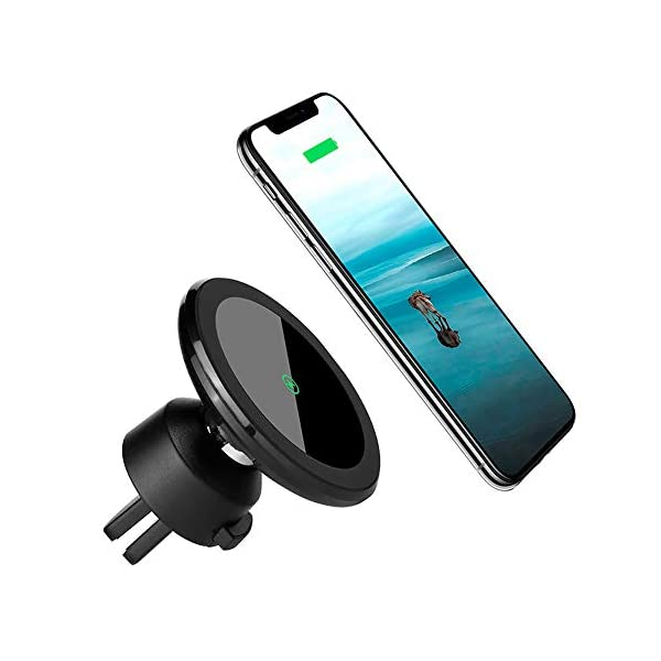2BConnect Premium Strong Mount Qi Fast Charging Car Kit Includes CQ3.0 Adapter 3Amp Cable 10W Fast Wireless Charging: iPhone Xs Max//XR//X//8//8+ Samsung S10//S9//S8//Note 8 Magnetic Wireless Car Charger