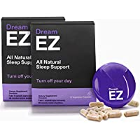 Dream EZ - Sleeping Pills with Valerian Root and Lemon Balm, Supports a Healthy Sleep Cycle, Deep and Restful Sleep, Chamomile, Anti Anxiety Supplement with Melatonin and L-Tryptophan (36 Servings)