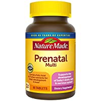 Nature Made Prenatal Tablets with Folic Acid, Iron, Iodine & Zinc, 90 Count to Support Baby's Development† (Pack of 3)