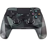ZFY Z02 Wireless Gaming PS4 Controller for Playstation 4, Joystick with Sixaxis, Bluetooth, Super Power, Micro USB Charging Port, Multi-Touch Clickable Touch Pad - Army Green