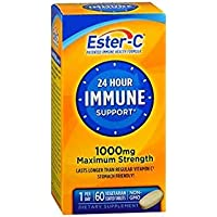 Ester-C 24 Hour Immune Support 1000 mg Maximum Strength Vegetarian Tablets - 60ct, Pack of 3
