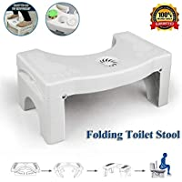 HJHY@ Foldable Squatty Potty Toilet Anti Constipation Step Stool for Adults Kids,Squatty Potty The Original Bathroom Toilet Stool with Breathable Aromatherapy Hole,Proper Toilet Posture
