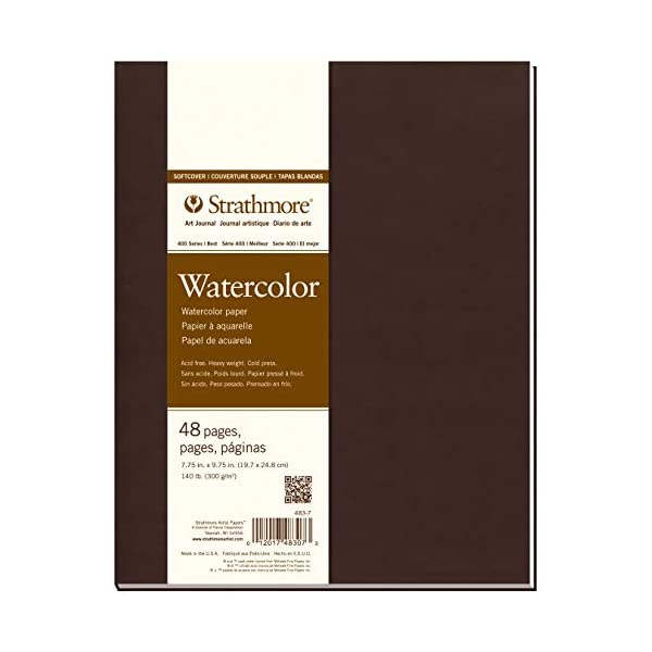 """483-5 400 Series Softcover Watercolor Art Journal 8/""""x5.5/"""" 24 Sheets Strathmore"""