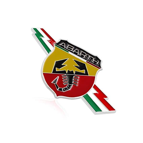 BENZEE B059 Car Styling Accessories Emblem Badge Decal Sticker Power by ABARTH Italy FIAT 124 125 500 695 OT2000 80X30 mm Benzy