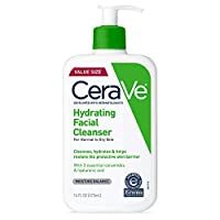 CeraVe Hydrating Face Wash | 16 Ounce | Daily Facial Cleanser for Dry Skin | Fragrance-Free