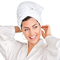 EMIKO Large Microfiber Hair Towel for Women - Quick Anti-Frizz Hair Drying - Soft & Super Absorbent - Ideal for All Hair Types - (43 x 23 Inches)
