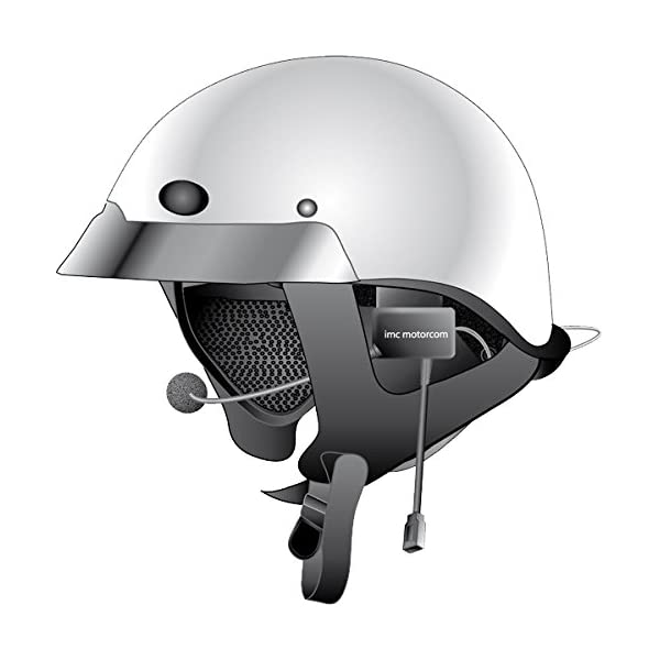 iMC Motorcom HS-H130P Open-Face Helmet Headset for 7 Pin Harley Davidson Audio Systems