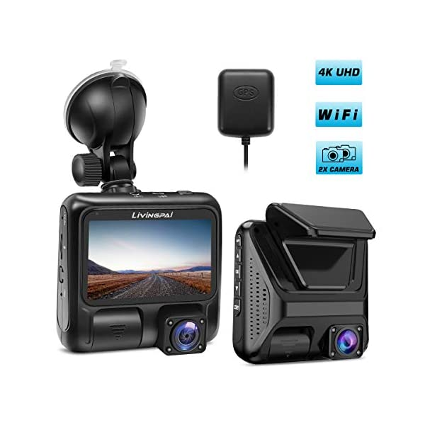 Parking Mode,WDR,Loop Recording,G-Sensor for Cars,Truck.Support 128GB Max 4K Dash Cam Built-in WiFi GPS Car Dashboard Camera Recorder with UHD 2880x2160P,Night Vision,3.0 IPS Screen,170/° Wide Angle