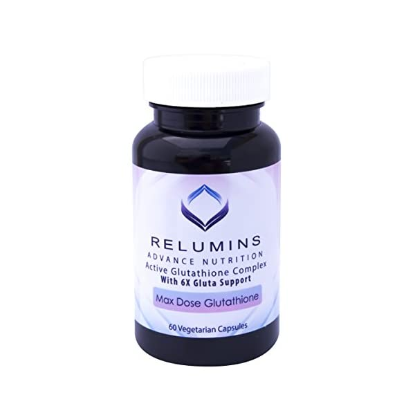 Relumins Advance White Active Glutathione Complex -Oral Whitening Formula Capsules with 6X Boosters- Whitens, Repairs & Rejuvenates Skin