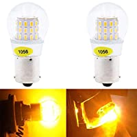 BlyilyB 2-Pack 9-30V 1156 BAU15S 7507 PY21W 2641A High Brightness Low Power Amber Yellow LED Bulbs Replacement For Turn Signal Lights