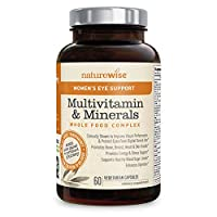 NatureWise Women's Eye Support Whole Food Multivitamin for Eye Health, Blue Light Defense with Chelated Multi Minerals, Lutemax 2020, and Zeaxanthin (Packaging May Vary) [1 Month Supply - 60 Capsules]
