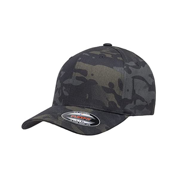 Flexfit Multicam 6 Panel Baseball Cap Officially Licensed Multi-Cam 2 Patterns Black Camo or Green Camo