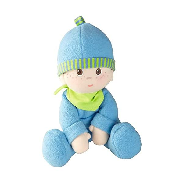 Machine Washable for Babies 6 Months HABA Snug up Jonas 11.5 Soft Boy Baby Doll with Embroidered Face