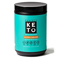 Perfect Keto Collagen Protein Powder with MCT Oil - Grassfed, GF, Multi Supplement, Best for Ketogenic Diets, Use as Keto Creamer, in Coffee and Shakes for Women & Men – Salted Caramel