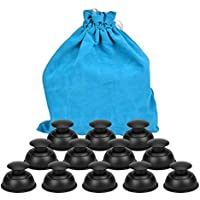 Silicone Cupping Therapy Sets Cups Massage, 12pcs Professional Vacuum Cupping Anti Cellulite Suction Cup for Facial Body Massage, Deep Tissue, Myofascial Release, Pain Relief, Muscle Relaxation(Black)