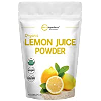Micro Ingredients Organic Lemon Juice Powder, 10 Ounce, Rich in Natural Vitamin C (Immune Vitamins) for Immune System Booster and Great Flavor for Drinks, Smoothie and Beverages, Vegan Friendly