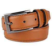 belt for men leather Causal Dress Belt for Men, with Classic Single Prong Buckle