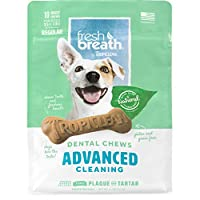 Fresh Breath by TropiClean Advanced Cleaning Dental Chews for Dogs 25+ Pounds, 10ct, 11oz - Helps Brush Away Plaque and Tartar — Made in the U.S.A.
