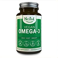Vegan Omega 3 Supplement | Plant-Based Omega-3 DHA & EPA Fatty Acids | Better Absorbable, Improved Formula | Brain Boost & Eye, Heart and Joint Support | Fish Oil Alternative - No Fishy Burps