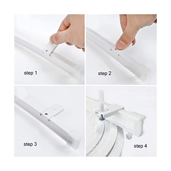 Ziang Bendable Straight Curved Curtain Track Alloy Plastic Windows and Balcony Curtain Track Soft Curved Track Curved Track Rail Slide Rail Accessories 5 Meters