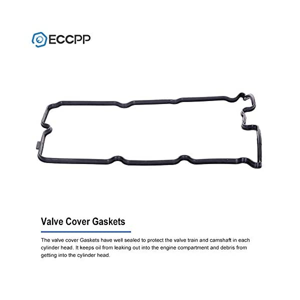 ECCPP Valve Covers with Valve Cover Gasket for 2003-2008 Infiniti FX35 G35 Infiniti M35 Nissan 350Z Compatible fit for Engine Left Valve Covers Kit