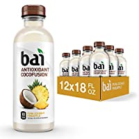 Bai Coconut Flavored Water, Puna Coconut Pineapple, Antioxidant Infused Drinks, 18 Fluid Ounce Bottles, 12 Count