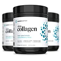 Smarter Skin Collagen - Triple Action Formula for Vibrant, Healthy Skin - Unique Marine Collagen Blend with Antioxidant Protection & Plant-Based Collagen Production Boosters (60 Servings)