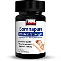 Force Factor Somnapure Clinical Strength Sleep Aid, 1 Doctor-Recommended Sleeping Pill Ingredient, Fall Asleep Quickly, Non-Habit-Forming, 30 Count