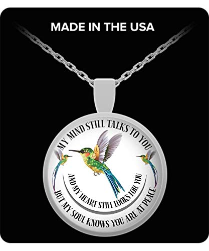 Countrywide Gifts in Loving Memory Cardinal Pendant Gift My Mind Still Talks to You Memorial Necklace v2