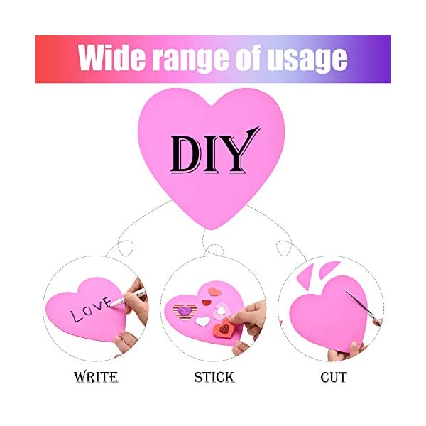 24 Pieces Foam Hearts and 2 Bags of Foam Heart Stickers JOYIN Valentines Day Craft Gift Set with 100 Heart Doilies